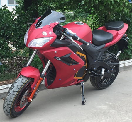 Электромотоцикл Electrowin EM-124 красный, фото