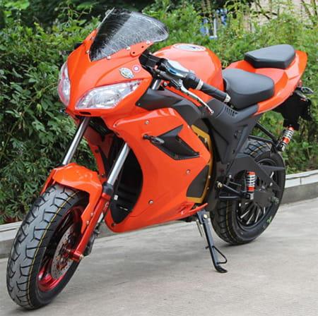 Электромотоцикл Electrowin EM-124 оранжевый, фото