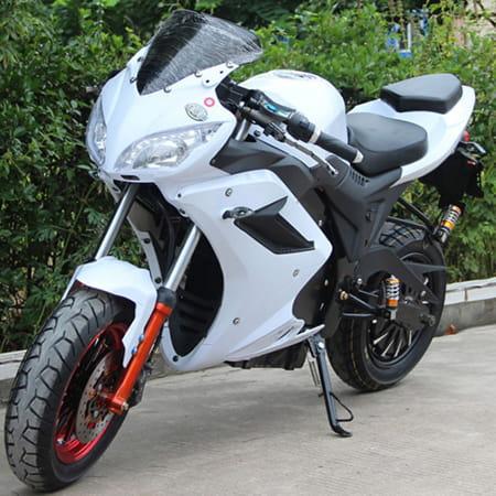 Электромотоцикл Electrowin EM-124 белый, фото