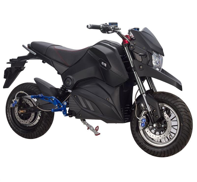 Черный электромотоцикл Electrowin EM-126. Купить в Киеве