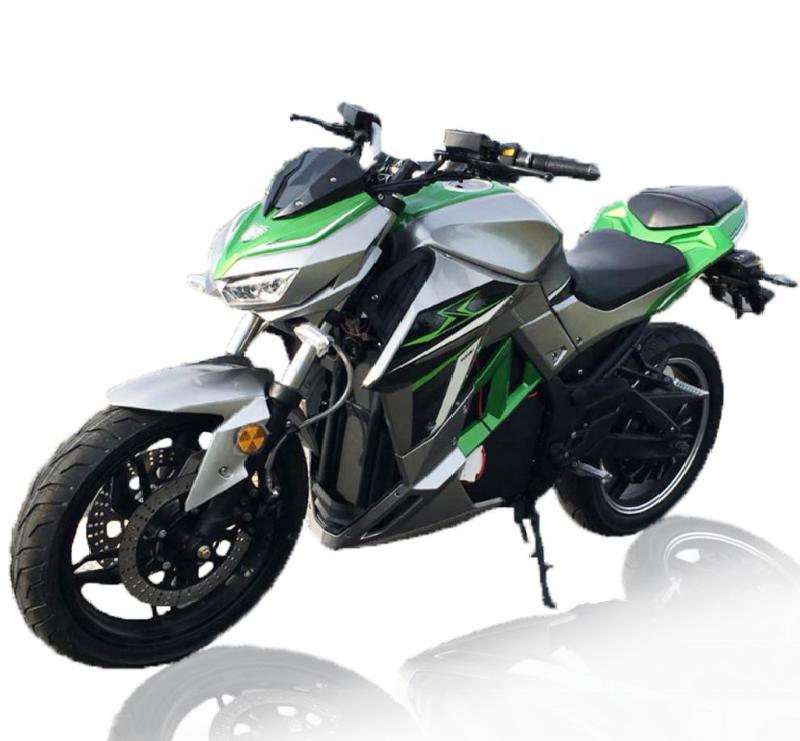 Черно-серо-зеленый электромотоцикл Electrowin EM-130