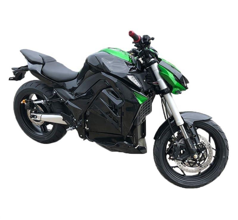 Черно-зеленый электромотоцикл Electrowin EM-130. Купить в Киеве