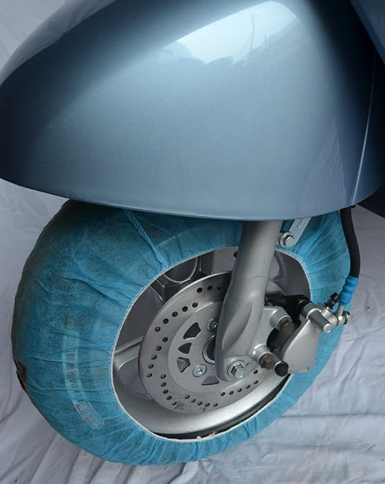 Переднее колесо с тормозами электрического мопеда Electrowin iMi