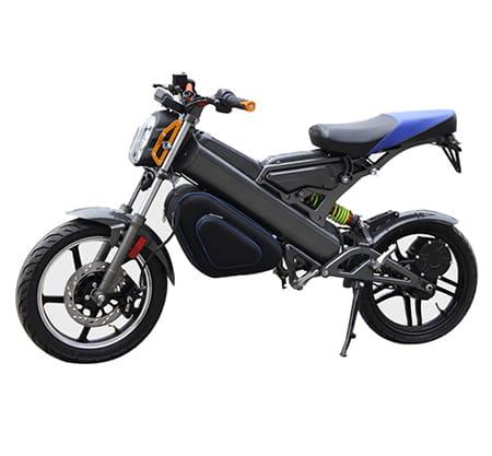 Электромотоцикл Electrowin EBM-126, складной, черный. Фото