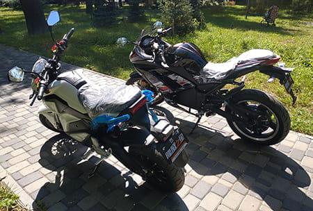 Электромотоцикл Electrowin EM-122, черный, фото 15