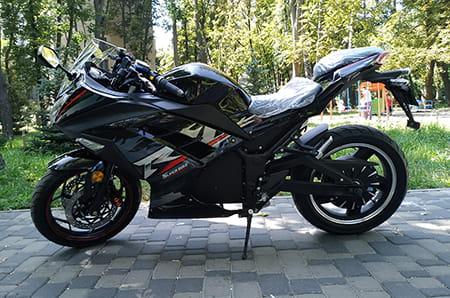Электромотоцикл Electrowin EM-122, черный, фото 6