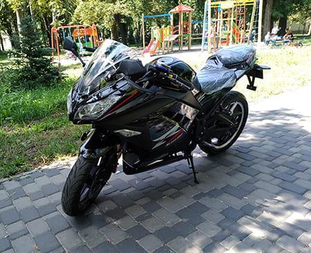 Электромотоцикл Electrowin EM-122, черный, фото 8