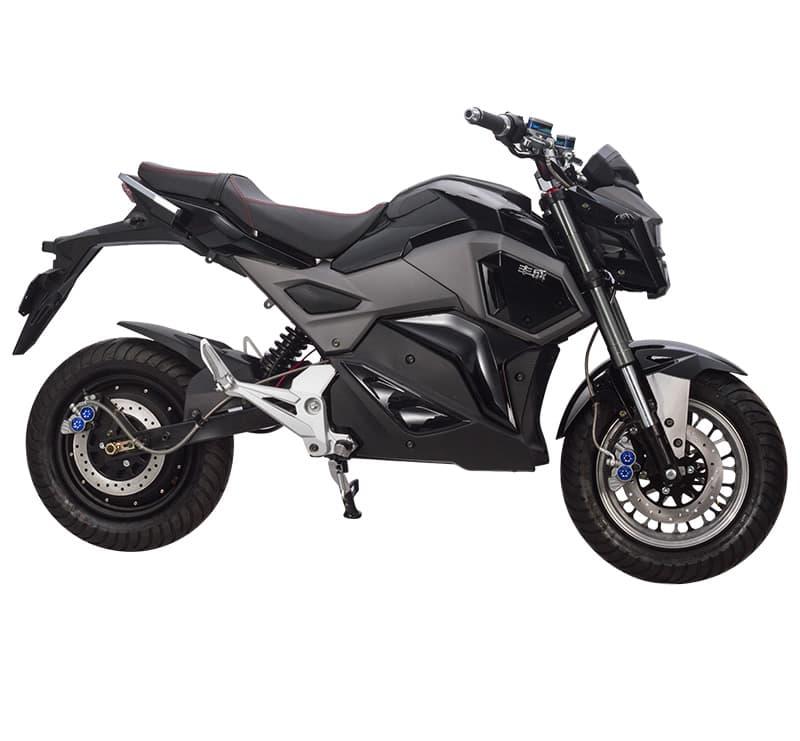 Электромотоцикл Electrowin EM-125, черный, фото