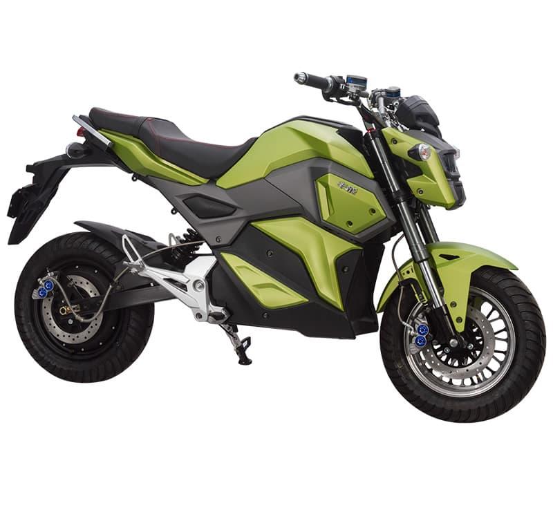 Электромотоцикл Electrowin EM-125, зеленый, фото