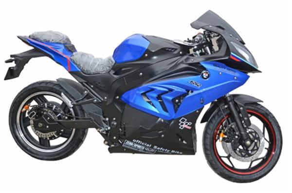 Электромотоцикл Electrowin EM-BM, синий. Вид справа