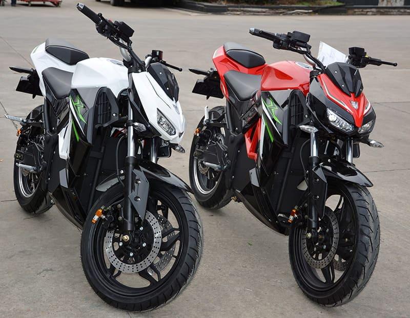 Электромотоцикл Electrowin EM-130, красная и белая модели