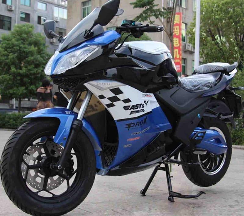 Электромотоцикл Electrowin EM-123 синий