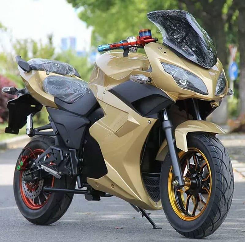 Электромотоцикл Electrowin EM-123 оливковый