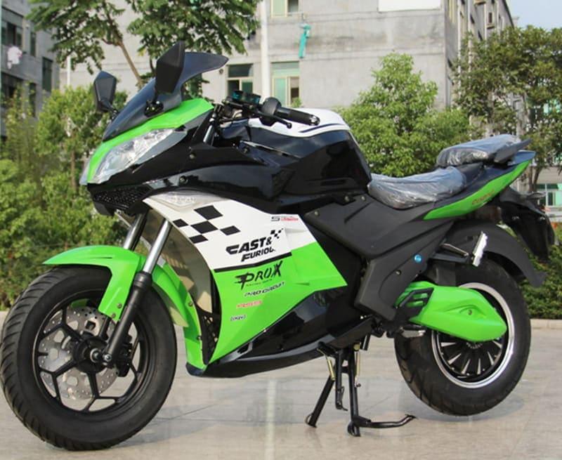 Электромотоцикл Electrowin EM-123 зеленый