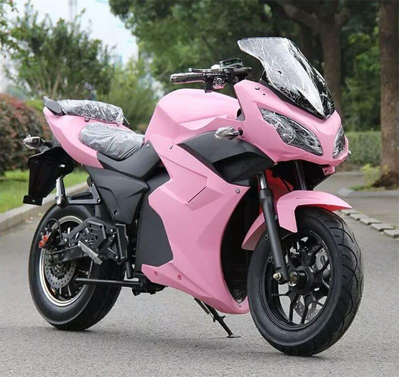 Электромотоцикл Electrowin EM-123 розовый