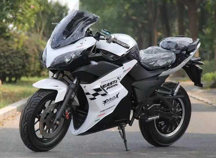 Электромотоцикл Electrowin EM-123 белый
