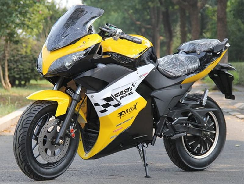 Электромотоцикл Electrowin EM-123 желтый