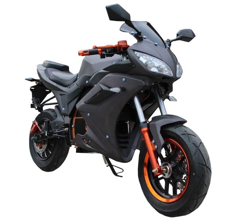 Электромотоцикл Electrowin EM-124 черного цвета