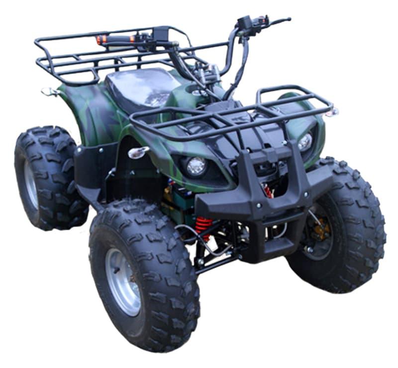 Темно-зеленый электроквадроцикл Electrowin EAT-122