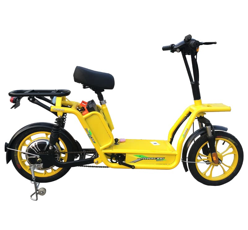 Желтый электроскутер для службы доставки Electrowin Delivery