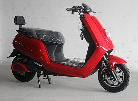Электрический скутер Electrowin ECW-B2 красный, боковой вид