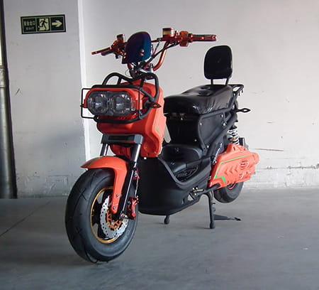 Электроскутер Electrowin ZUMA, оранжево-черный