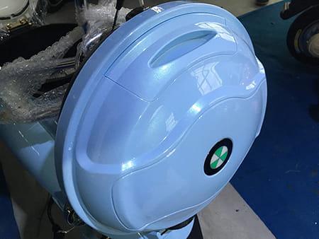 Электроскутер Electrowin EM-2160, голубой. Фото 7