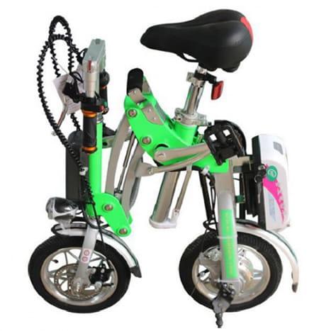 Электровелосипед Electrowin EB-182 в сложенном виде. Фото 3