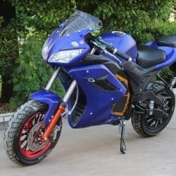 Электромотоцикл Electrowin EM-124 синий, фото