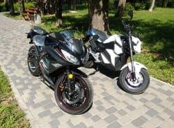 Электромотоцикл Electrowin EM-122, черный, фото 13