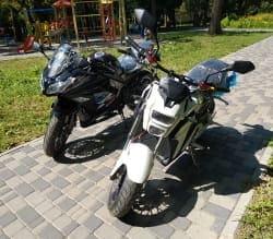 Электромотоцикл Electrowin EM-122, черный, фото 14