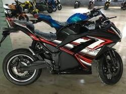 Электромотоцикл Electrowin EM-122, черный, фото 2