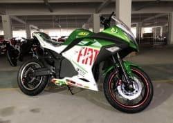 Электромотоцикл Electrowin EM-122, зеленый, фото