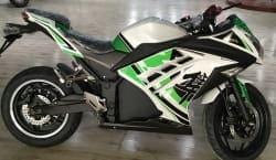 Электромотоцикл Electrowin EM-122, белый, фото