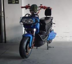 Электроскутер Electrowin ZUMA, сине-черный