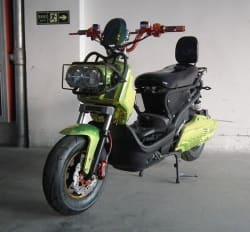 Электроскутер Electrowin ZUMA, зелено-черный