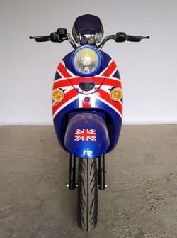 Электрический скутер Electrowin EM-2160, цвета британского флага, фронтальный вид